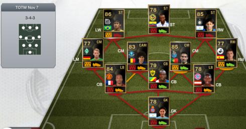 TOTW 8 - FIFA 13